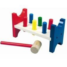 Деревянная игрушка Стучалка с гвоздями-перевертышами BINO 82134