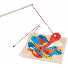 Деревянная игрушка Магнитная игра-головоломка Рыбалка BINO 82737