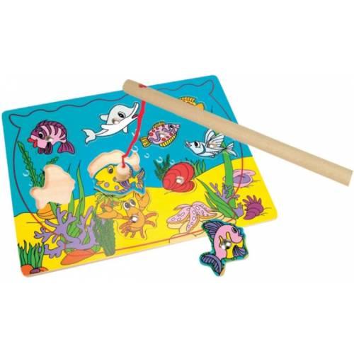 Деревянная игрушка Магнитная игра Море BINO 82763