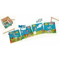 Деревянная игрушка Набор для магнитной игры Рыбалка BINO 82764