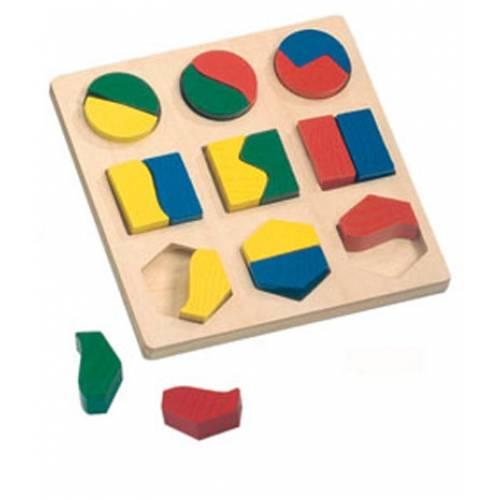 Деревянная игрушка Вкладыши Геометрические фигуры BINO 84029