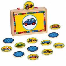 Деревянная игрушка Игра в чемоданчике Найди пару: Транспорт BINO 84043