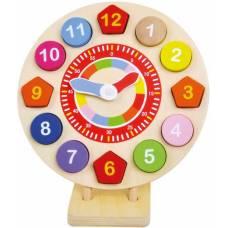 Деревянная игрушка Часы со вкладышами BINO 84051