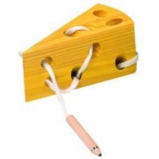 Деревянная игрушка Шнуровка Сыр BINO 84065