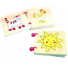 Деревянная игрушка Книжка с картинками BINO 84148