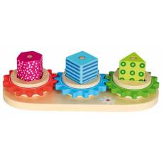 Деревянная игрушка Пирамидки-шестренки BINO 84153