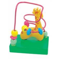 Деревянная игрушка Пальчиковый лабиринт Жираф BINO 84160