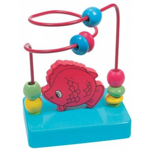 Деревянная игрушка Пальчиковый лабиринт Рыбка BINO 84161