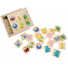 Деревянная игрушка Игра Найди пару: Животные BINO 84167