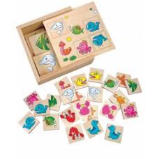 Деревянная игрушка Игра Найди пару: Подводный мир BINO 84168