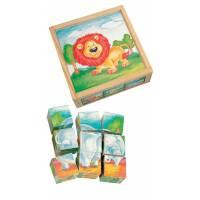 Деревянная игрушка Кубики Дикие животные BINO 84174