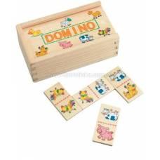Деревянная игрушка Домино мини Домашние животные BINO 84181