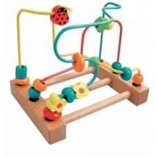Деревянная игрушка Пальчиковый лабиринт Божья коровка BINO 84184