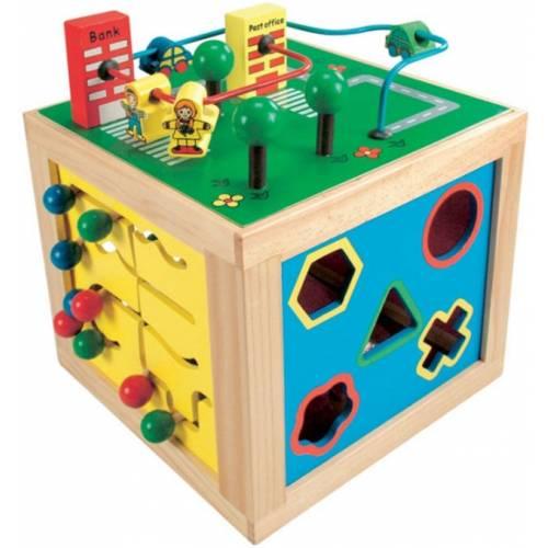 Деревянная игрушка Куб развивающий большой BINO 84185