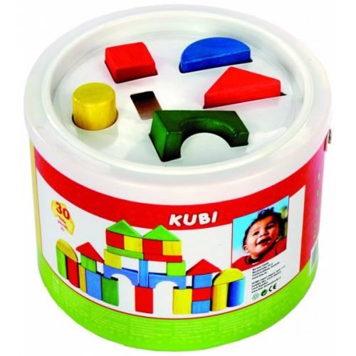 Деревянная игрушка Конструктор-сортер в ведерке BINO 84195