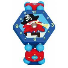 Деревянная игрушка Часы Пират синие BINO 86037