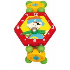 Деревянная игрушка Часы Пират красные BINO 86039