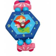 Деревянная игрушка Часы Русалочка голубые BINO 86041