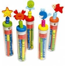 Деревянная игрушка Набор карандашей с точилкой BINO 86045