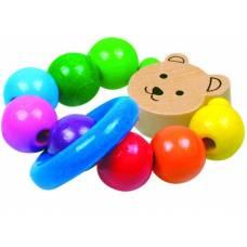 Деревянная игрушка Погремушка Медвежонок Асси BINO 86505