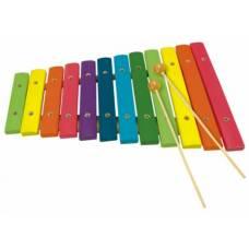 Деревянная игрушка Ксилофон 12 тонов BINO 86554