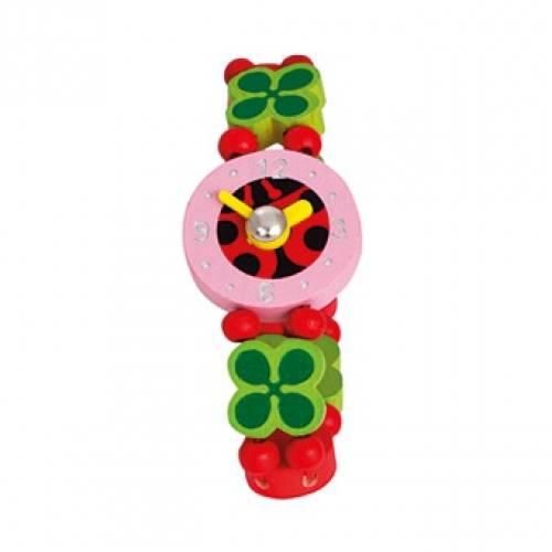 Деревянная игрушка Часы Божья коровка BINO 87128