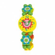 Деревянная игрушка Часы Цветы BINO 87130