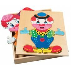 Деревянная игрушка Набор Гардероб для клоуна BINO 88001