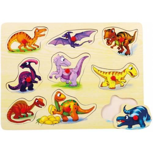 Деревянная игрушка Вкладыши Динозавры BINO 88099