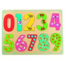 Деревянная игрушка Вкладыши Морские цифры BINO 88109