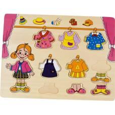Деревянная игрушка Вкладыши Гардероб BINO 88110
