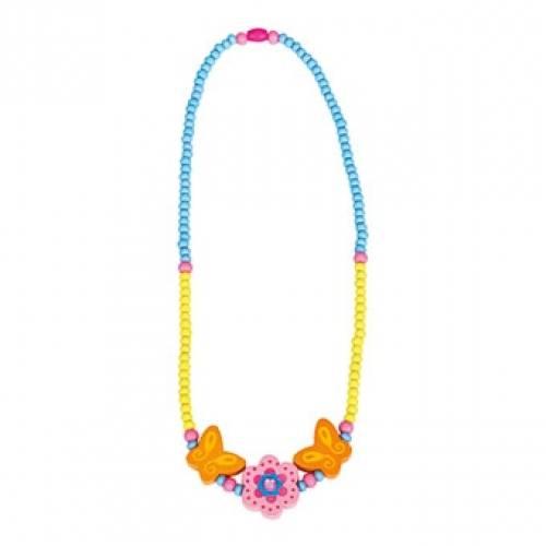 Деревянная игрушка Ожерелье розовое Цветок BINO 89034