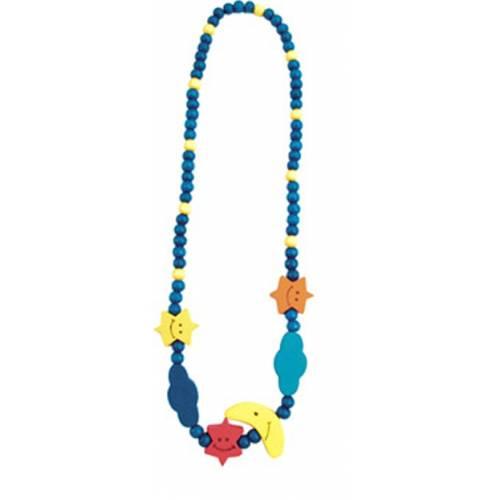 Деревянная игрушка Ожерелье Месяц и звезды BINO 89085
