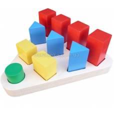 Деревянная игрушка Цветные фигуры KOMAROVTOYS А 313