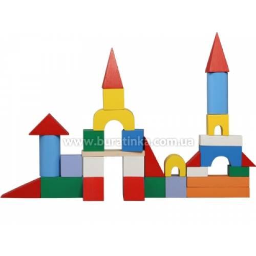 Деревянная игрушка Конструктор Строитель мини KOMAROVTOYS А 318