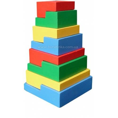 Деревянная игрушка Пирамидка-головоломка 8 эл. KOMAROVTOYS А 332