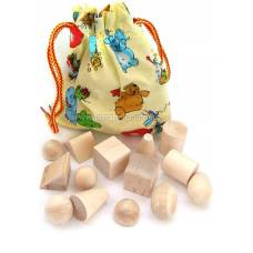 Деревянная игрушка Чудесный мешочек с геометрическими фигурами RNTOYS Д-106