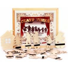 Деревянная игрушка Театр теней Коза дереза Репка Красная шапочка Колобок KOMAROVTOYS Д 702