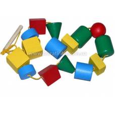 Деревянная игрушка Бусы для малышей макси KOMAROVTOYS К 124