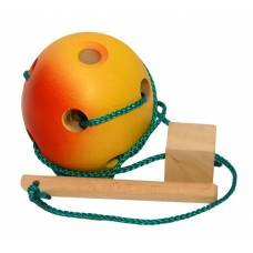 Деревянная игрушка Шнуровка Яблочко KOMAROVTOYS К 144