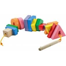 Деревянная игрушка Шнуровка Ключ и формы KOMAROVTOYS К 146