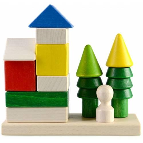 Деревянная игрушка Пирамидка Домик в лесу ТАТО кс-004