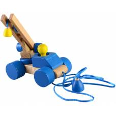 Деревянная игрушка Автокран пирамидка-каталка динамическая ТАТО Кт-005