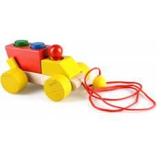 Деревянная игрушка Самосвал пирамидка-каталка динамическая ТАТО кт-007