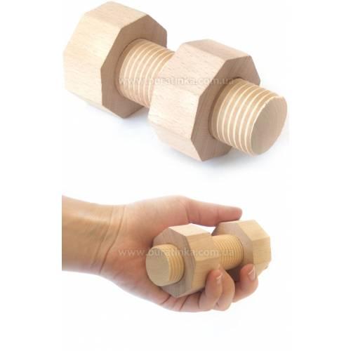 Деревянная игрушка Болтик и гаечка ВУНДЕРКИНД М-033