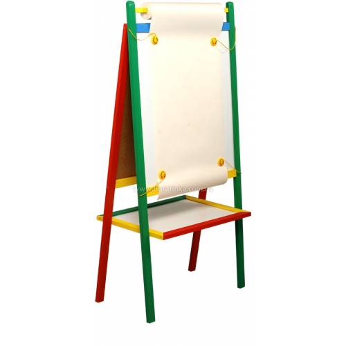 Деревянная игрушка Мольберт двусторонний макси KOMAROVTOYS М 404