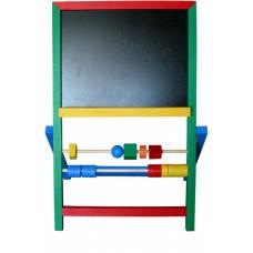 Деревянная игрушка Мольберт двусторонний Малыш KOMAROVTOYS М 420