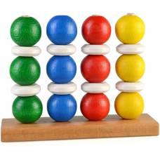 Деревянная игрушка Пирамидка Блинчики и пончики ТАТО пр-001