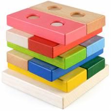 Деревянная игрушка Пирамидка Цветные плашки ТАТО пр-002