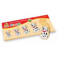 Деревянная игрушка Вкладыши Больше-меньше: Собачки ВУНДЕРКИНД РВ-041